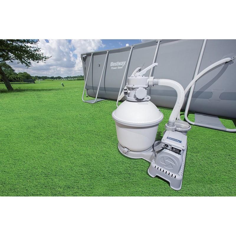 Pompa bestway filtro a sabbia flowclear filtraggio per pulizia acqua piscina 7571 lt h mod - Acqua orecchie piscina ...