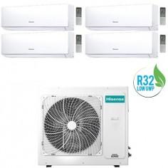 Climatizzatore Condizionatore Hisense Quadri Inverter 7+9+9+12 New Comfort 7000+9000+9000+12000 Btu 4amw81u4raa Gas R32 A++