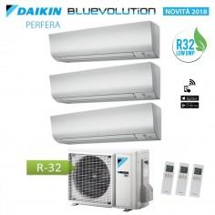 Climatizzatore Condizionatore Daikin Trial Split 9+9+12 Inverter Perfera Serie Ftxm R-32 Bluevolution 9000+9000+12000 3mxm52m
