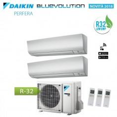 Climatizzatore Condizionatore Daikin Dual Split 7+7 Inverter Perfera Serie Ftxm Bluevolution R-32 7000+7000 Con 2mxm40m
