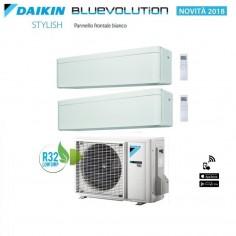 Climatizzatore Condizionatore Dual 9+9 Daikin Bluevolution Stylish White 9000+9000 Btu Con 2mxm40m Gas R-32 Wi Fi