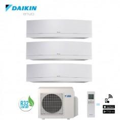 Climatizzatore Daikin Trial Split 9+9+12 Inverter Serie Emura White Wi-fi R-32 Bluevolution 9000+9000+12000 Con 3mxm52m