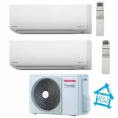 Climatizzatore Condizionatore Dual Inverter 13+13 Toshiba Mirai Da 13000+13000 Btu Ras-2m18u2avg-e Gas R32