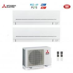 CLIMATIZZATORE CONDIZIONATORE MITSUBISHI ELECTRIC DUAL 9+12 SERIE AP MSZ-AP 9000+12000 BTU CON MXZ-2D53VA WI FI READY
