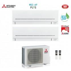 Climatizzatore Condizionatore Mitsubishi Electric Dual Split 9+12 Inverter Msz-ap R32 9000+12000 Btu Mxz-2f53vf A+++ Wi Fi Ready