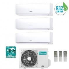Climatizzatore Condizionatore Hisense Trial 9+9+12 Serie New Comfort 9000+9000+12000 Btu Con 3amw72u4rfa R32 Classe A++