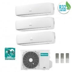 Climatizzatore Condizionatore Hisense Trial 9+9+9 Mini Apple Pie Da 9000+9000+9000 Btu Con 3amw72u4rfa R-32 A++ New Model