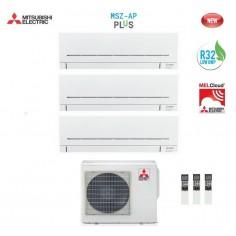 Climatizzatore Condizionatore Mitsubishi Electric Trial Split 9+9+9 Inverter Msz-ap R32 9000+9000+9000 Btu Mxz-3f68vf