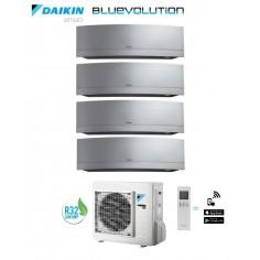CLIMATIZZATORE DAIKIN QADRI SPLIT INVERTER EMURA WHITE WI-FI R-32 BLUEVOLUTION 9+9+9+9 CON 3MXM68M
