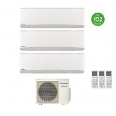 Climatizzatore Condizionatore Panasonic Trial 9+12+12 Inverter+ Serie Etherea 9000+12000+12000 Btu Cu-3z68tbe R-32 White