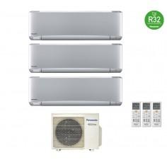 Climatizzatore Condizionatore Panasonic Trial 9+12+12 Inverter+ Serie Etherea 9000+12000+12000 Btu Cu-3z68tbe R-32 Silver