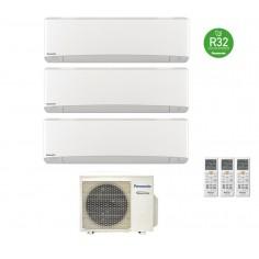 Climatizzatore Condizionatore Panasonic Trial 12+12+12 Inverter+ Serie Etherea 12000+12000+12000 Btu Cu-3z68tbe R-32 White