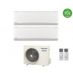 Climatizzatore Condizionatore Panasonic Dual 7+12 Inverter+ Serie Etherea Da 7000+12000 Btu Con Cu-2z41tbe In R-32 White -