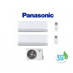 CLIMATIZZATORE CONDIZIONATORE PANASONIC DUAL 9+12 INVERTER+ SERIE TZ DA 9000+12000 BTU CON CU-2TZ41TBE GAS R-32 IN CLASSE A++