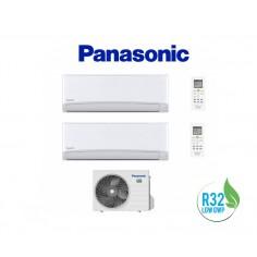 CLIMATIZZATORE CONDIZIONATORE PANASONIC DUAL 9+12 INVERTER+ SERIE TZ DA 9000+12000 BTU CON CU-2TZ50TBE GAS R-32 IN CLASSE A++