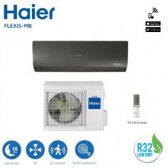 CLIMATIZZATORE CONDIZIONATORE HAIER SERIE FLEXIS AS42S2SF1FA-MB GAS R32 DA 15000 BTU IN CLASSE A+++ BLACK WI FI - NEW