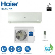 CLIMATIZZATORE CONDIZIONATORE HAIER SERIE FLEXIS AS71S2SF1FA-MW GAS R32 DA 24000 BTU IN CLASSE A++ WHITE WI FI - NEW