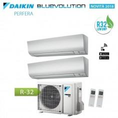CLIMATIZZATORE CONDIZIONATORE DAIKIN DUAL 12+18 INVERTER PERFERA FTXM/N BLUEVOLUTION WI FI INCLUSO 12000+18000 2MXM50M R-32