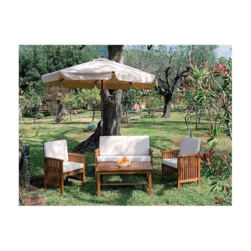 Tavoli Da Giardino In Legno Balau.Salotto Da Giardino In Legno Balau Modello New Castle Composto