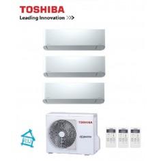 Climatizzatore Condizionatore Trial Inverter 10+10+10 Toshiba Mirai Da 10000+10000+10000 Btu Ras-3m18u2avg-e Gas R32