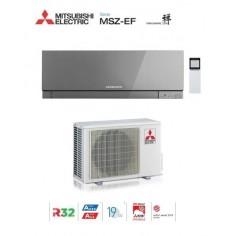 CLIMATIZZATORE CONDIZIONATORE MITSUBISHI ELECTRIC INVERTER KIRIGAMINE ZEN SILVER MSZ-EF25VE3S 9000 BTU GAS R32 IN A+++
