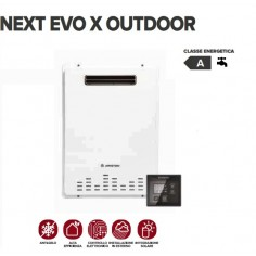 Scaldabagno A Camera Aperta Ariston Next Evo X Outdoor 22 Eu Low Nox A Gas Metano A Basse Emissioni Nox Per Esterno - Erp