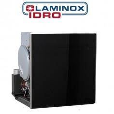TERMOCAMINO TERMOSTUFA A PELLET LAMINOX MODELLO APOLLO 24 IDRO DA 18 KW CON INSERTO BLACK LINE - WI-FI READY