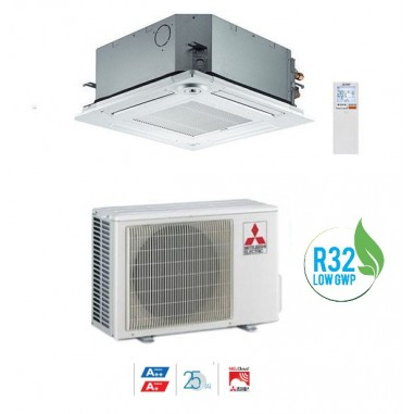 CLIMATIZZATORE CONDIZIONATORE MITSUBISHI ELECTRIC INVERTER A CASSETTA SERIE SLZ-M35FA DA 12000 BTU A++ GAS R32 WI FI READY NEW