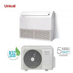 CLIMATIZZATORE CONDIZIONATORE SOFFITTO/PAVIMENTO UNICAL AIR MODELLO PS10 48H DA 48000 BTU IN CLASSE A++ GAS R32