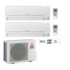 Climatizzatore Condizionatore Mitsubishi Electric Dual 9+12 Linea Smart Msz-hr 9000+12000 Btu Mxz-2ha40vf R32 A++ Wi Fi Ready