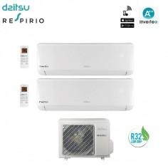 Climatizzatore Condizionatore Daitsu By Fujitsu Dual 9+9 Inverter Serie Dt Da 9000+9000 Btu Dosm-18kidt R32 A++ Wi Fi Ready