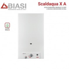 SCALDABAGNO CAMERA APERTA BIASI MODELLO SCALDACQUA X 11A GAS GPL LOW NOX NEW