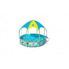 Piscina Bestway Fuori Terra Modello Splash In Shade (56432) Con Telaio In Metallo E Copertura Cm 244x51 Cod. 91893