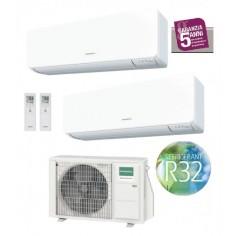 Climatizzatore Condizionatore General Fujitsu Dual Split Inverter serie KMTB 7+9 con AOHG14KBTA2 R-32 Wi-Fi Optional 7000+9000