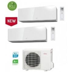Climatizzatore Condizionatore General Fujitsu Dual Split Inverter serie KGTB 7+7 con AOHG14KBTA2 R-32 Wi-Fi Optional 7000+7000
