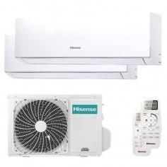 Climatizzatore Condizionatore Hisense Dual Split Inverter serie NEW COMFORT 5+7 con 2AMW35U4RRA R-32 Wi-Fi Optional 5000+7000
