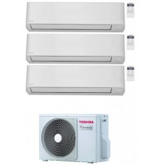 Toshiba Seiya Condizionatore Trial Split 10000+10000+13000 btu Inverter R32 Ras-3M18U2AVG-E A++ 10+10+13