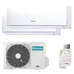 Climatizzatore Condizionatore Hisense Dual Split Inverter serie NEW COMFORT 7+7 A++ con 2AMW35U4RRA R-32 Wi-Fi Optional 7000+700