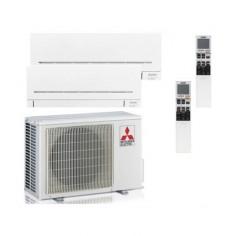 Climatizzatore Condizionatore Mitsubishi Electric Dual Split Inverter Serie AP 12+12 con MXZ-2F53VF2 R-32 Wi-Fi Integrato 12+12