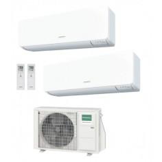 Climatizzatore Condizionatore General Fujitsu Dual Split Inverter serie KMTB 7+12 con AOHG14KBTA2 R-32 Wi-Fi Optional 7000+12000