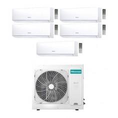 Climatizzatore Condizionatore Hisense Penta Inverter 9+9+9+12+12 New Comfort 9000+9000+9000+12000+12000 Btu 5amw125u4rta Gas R32