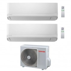 Climatizzatore Condizionatore Dual 10+16 Toshiba Mod Seiya Da 10000+16000 Btu Con Ras-2m18u2avg Gas R32 In A++ Wi Fi Ready
