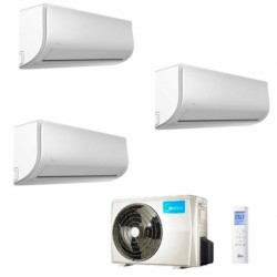 Climatizzatore Condizionatore Midea Trial Split Inverter serie XTREME 9+9+18 con M3O-27NF8 R-32 Wi-Fi Integrato 9000+9000+18000
