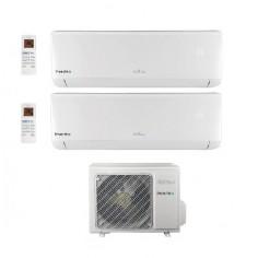 Climatizzatore Condizionatore Daitsu By Fujitsu Dual 9+12 Inverter Serie Dt Da 9000+12000 Btu Dosm-18kidt R32 A++ Wi Fi Ready