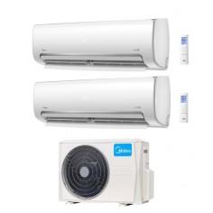 Climatizzatore Condizionatore Inverter Dual Split 9+12 Midea Modello Mission Pro R32 Con M2o-18fn8-q 9000+12000 Btu Wi Fi Ready