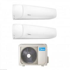 Climatizzatore Condizionatore Dual Split 9+9 Inverter Midea Mission Wf 9000+9000 Btu Con 2n-41k