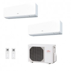 Climatizzatore Condizionatore Fujitsu Dual Split Inverter serie KG 12+12 con AOHG18KBTA2 R-32 Wi-Fi Optional 12000+12000