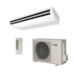 Climatizzatore Condizionatore Daikin Pensile a Soffitto DC Inverter 18000 BTU FHA50A R-32 Wi-Fi Optional con Comando a Filo Bianco