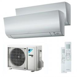 Climatizzatore Condizionatore Daikin Bluevolution Dual Split Inverter serie FTXM/N PERFERA 7+18 con 2MXM50M/M9 R-32 Wi-Fi Integrato 7000+18000