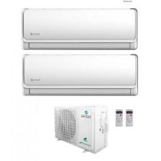 Climatizzatore Condizionatore Sendo IKAROS L dual split 12+12 esterna SFM-21OU3 gas R32 classe A++ WIFI incluso 12000+12000